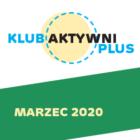 Grafika kolorowa, na górze logo klubu, na dole napis marzec 2020 na zielonym pasie
