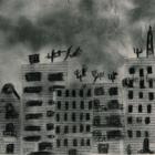 Czarno biały obrazek mroczne blokowisko